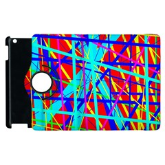 Colorful pattern Apple iPad 3/4 Flip 360 Case