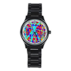 Colorful pattern Stainless Steel Round Watch