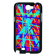Colorful pattern Samsung Galaxy Note 2 Case (Black)