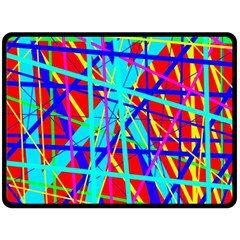 Colorful pattern Double Sided Fleece Blanket (Large)