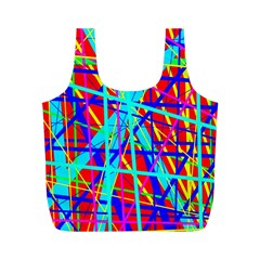 Colorful pattern Full Print Recycle Bags (M)