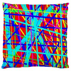 Colorful pattern Large Flano Cushion Case (Two Sides)