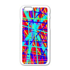 Colorful pattern Apple iPhone 6/6S White Enamel Case