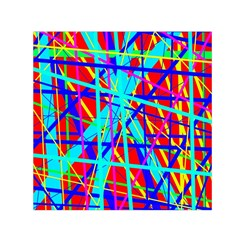 Colorful pattern Small Satin Scarf (Square)