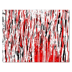 Red, black and white pattern Rectangular Jigsaw Puzzl