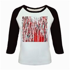 Red, black and white pattern Kids Baseball Jerseys