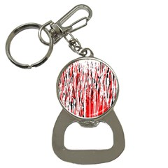 Red, black and white pattern Bottle Opener Key Chains