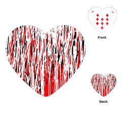 Red, black and white pattern Playing Cards (Heart)