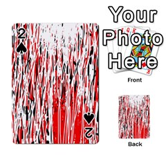 Red, black and white pattern Playing Cards 54 Designs
