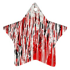 Red, black and white pattern Star Ornament (Two Sides)