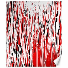 Red, black and white pattern Canvas 8  x 10