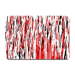 Red, black and white pattern Plate Mats