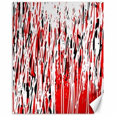 Red, black and white pattern Canvas 11  x 14