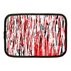 Red, black and white pattern Netbook Case (Medium)