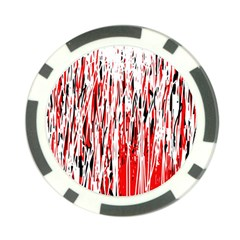 Red, black and white pattern Poker Chip Card Guards (10 pack)