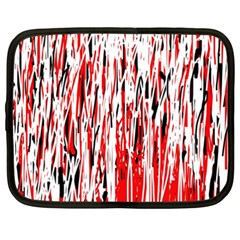 Red, black and white pattern Netbook Case (XXL)