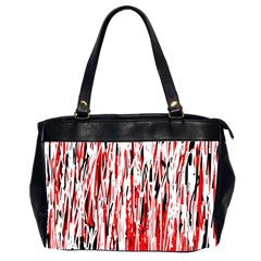 Red, black and white pattern Office Handbags (2 Sides)
