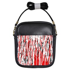 Red, black and white pattern Girls Sling Bags