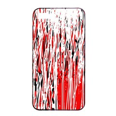 Red, black and white pattern Apple iPhone 4/4s Seamless Case (Black)