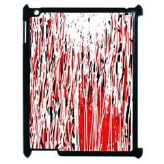 Red, black and white pattern Apple iPad 2 Case (Black)