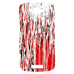 Red, black and white pattern HTC One S Hardshell Case