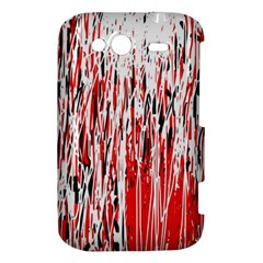 Red, black and white pattern HTC Wildfire S A510e Hardshell Case