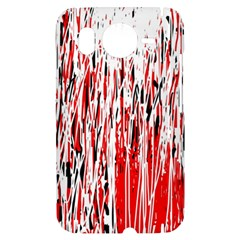 Red, black and white pattern HTC Desire HD Hardshell Case