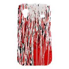 Red, black and white pattern Samsung Galaxy Ace S5830 Hardshell Case