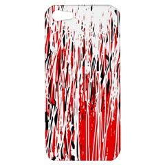 Red, black and white pattern Apple iPhone 5 Hardshell Case