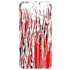 Red, black and white pattern Apple iPhone 5 Classic Hardshell Case