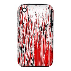 Red, black and white pattern Apple iPhone 3G/3GS Hardshell Case (PC+Silicone)