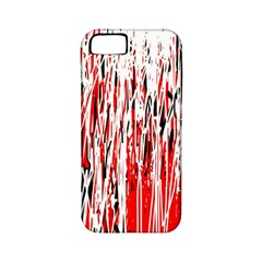 Red, black and white pattern Apple iPhone 5 Classic Hardshell Case (PC+Silicone)