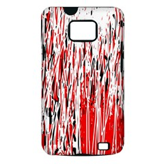 Red, black and white pattern Samsung Galaxy S II i9100 Hardshell Case (PC+Silicone)