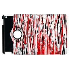 Red, black and white pattern Apple iPad 2 Flip 360 Case