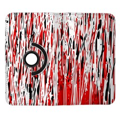 Red, black and white pattern Samsung Galaxy Note II Flip 360 Case