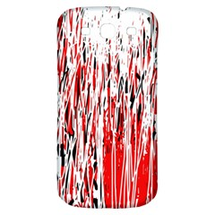 Red, black and white pattern Samsung Galaxy S3 S III Classic Hardshell Back Case