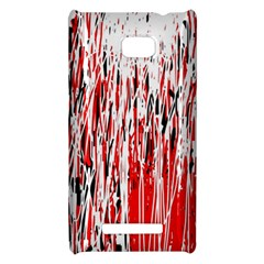 Red, black and white pattern HTC 8X