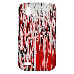 Red, black and white pattern HTC Desire V (T328W) Hardshell Case