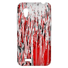 Red, black and white pattern HTC Desire VT (T328T) Hardshell Case