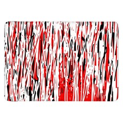 Red, black and white pattern Samsung Galaxy Tab 8.9  P7300 Flip Case
