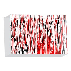 Red, black and white pattern 4 x 6  Acrylic Photo Blocks