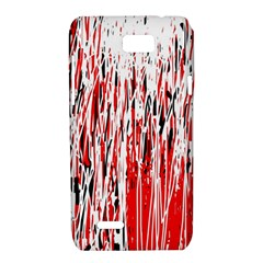 Red, black and white pattern Motorola XT788