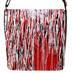 Red, black and white pattern Flap Messenger Bag (S)