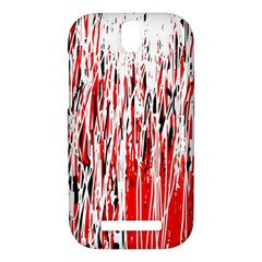 Red, black and white pattern HTC One SV Hardshell Case