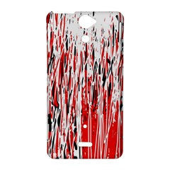 Red, black and white pattern Sony Xperia V