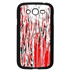 Red, black and white pattern Samsung Galaxy Grand DUOS I9082 Case (Black)