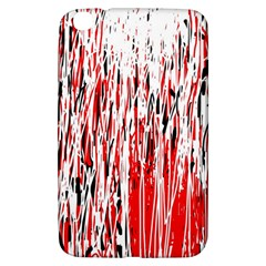 Red, black and white pattern Samsung Galaxy Tab 3 (8 ) T3100 Hardshell Case