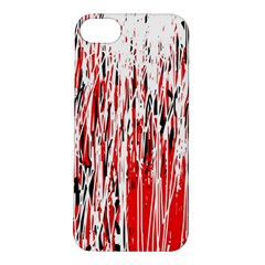 Red, black and white pattern Apple iPhone 5S/ SE Hardshell Case