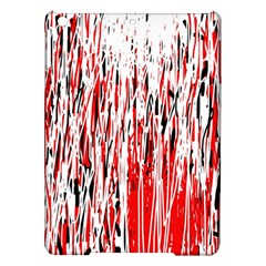 Red, black and white pattern iPad Air Hardshell Cases