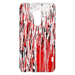 Red, black and white pattern HTC One Max (T6) Hardshell Case